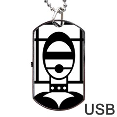 Bondage Dog Tag USB Flash (One Side)