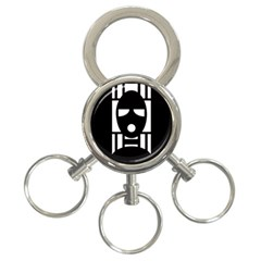 Masked 3 Ring Key Chains
