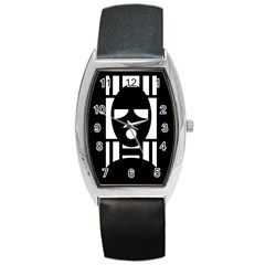 Masked Barrel Metal Watches