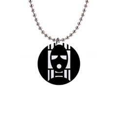 Masked Button Necklaces