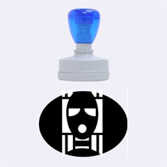 Masked Rubber Oval Stamps