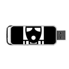 Masked Portable Usb Flash (two Sides)