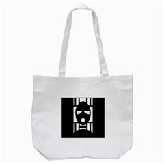 Masked Tote Bag (White)