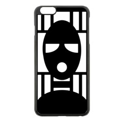 Masked Apple Iphone 6 Plus Black Enamel Case