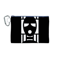 Masked Canvas Cosmetic Bag (m)