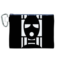 Masked Canvas Cosmetic Bag (XL)
