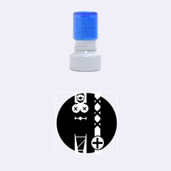Tied Up Rubber Round Stamps (small)