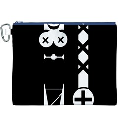 Tied-Up Canvas Cosmetic Bag (XXXL)