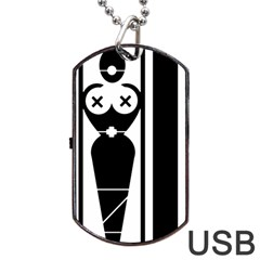 Submissive Dog Tag USB Flash (One Side)