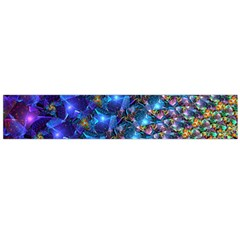 Blue Sunrise Fractal Flano Scarf (large)