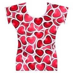 Candy Hearts Women s Cap Sleeve Top