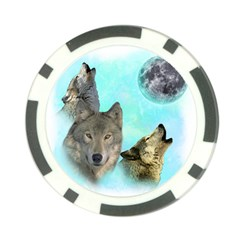 Wolves Shiney Grim Moon 3000 Poker Chip Card Guards