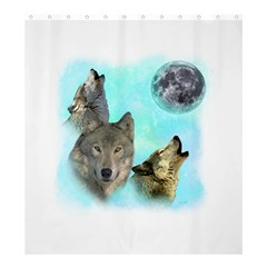 Wolves Shiney Grim Moon 3000 Shower Curtain 66  x 72  (Large)