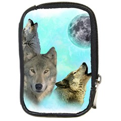 Wolves Shiney Grim Moon 3000 Compact Camera Cases