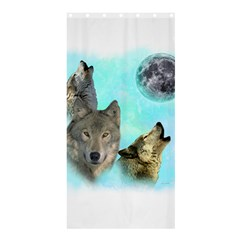 Wolves Shiney Grim Moon 3000 Shower Curtain 36  x 72  (Stall)