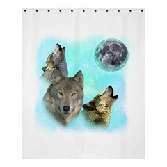 Wolves Shiney Grim Moon 3000 Shower Curtain 60  x 72  (Medium)