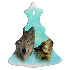 Wolves Shiney Grim Moon 3000 Ornament (Christmas Tree)