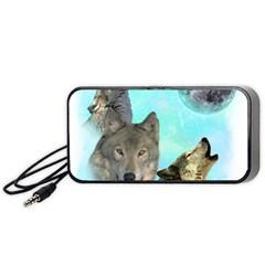 Wolves Shiney Grim Moon 3000 Portable Speaker (black)