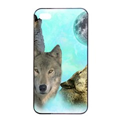Wolves Shiney Grim Moon 3000 Apple iPhone 4/4s Seamless Case (Black)