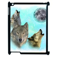 Wolves Shiney Grim Moon 3000 Apple Ipad 2 Case (black)