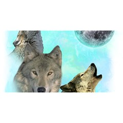 Wolves Shiney Grim Moon 3000 You Are Invited 3d Greeting Card (8x4)
