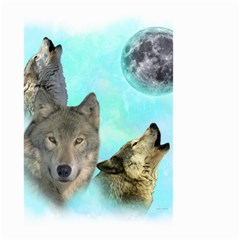 Wolves Shiney Grim Moon 3000 Small Garden Flag (Two Sides)