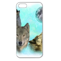 Wolves Shiney Grim Moon 3000 Apple Seamless Iphone 5 Case (clear)