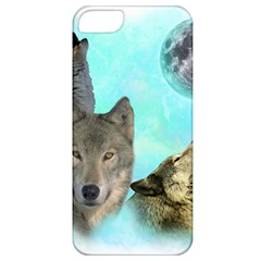 Wolves Shiney Grim Moon 3000 Apple Iphone 5 Classic Hardshell Case