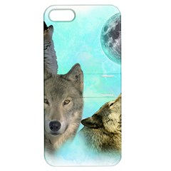 Wolves Shiney Grim Moon 3000 Apple Iphone 5 Hardshell Case With Stand