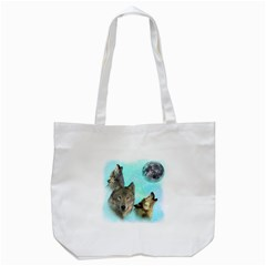 Wolves Shiney Grim Moon 3000 Tote Bag (White)