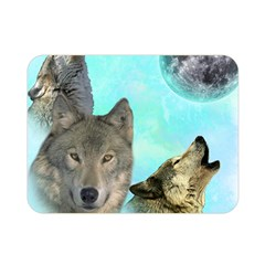 Wolves Shiney Grim Moon 3000 Double Sided Flano Blanket (Mini)