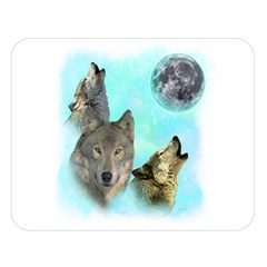 Wolves Shiney Grim Moon 3000 Double Sided Flano Blanket (Large)