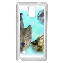 Wolves Shiney Grim Moon 3000 Samsung Galaxy Note 4 Case (White)