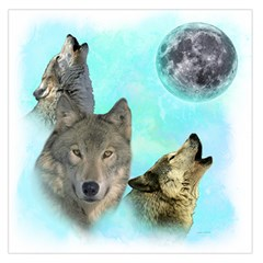 Wolves Shiney Grim Moon 3000 Large Satin Scarf (Square)