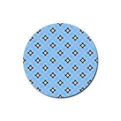 Cute Pretty Elegant Pattern Rubber Coaster (round)