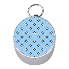 Cute Pretty Elegant Pattern Mini Silver Compasses