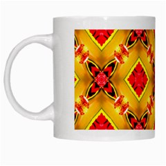 Cute Pretty Elegant Pattern White Mugs