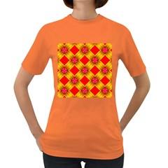 Cute Pretty Elegant Pattern Women s Dark T Shirt