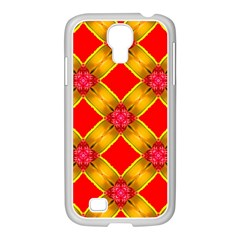 Cute Pretty Elegant Pattern Samsung Galaxy S4 I9500/ I9505 Case (white)