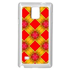 Cute Pretty Elegant Pattern Samsung Galaxy Note 4 Case (White)