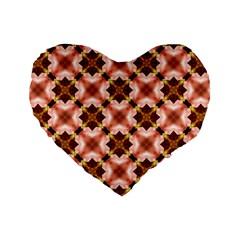 Cute Pretty Elegant Pattern Standard 16  Premium Flano Heart Shape Cushions