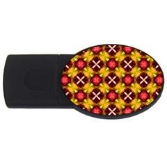 Cute Pretty Elegant Pattern Usb Flash Drive Oval (4 Gb)