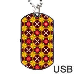 Cute Pretty Elegant Pattern Dog Tag USB Flash (Two Sides)