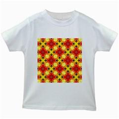Cute Pretty Elegant Pattern Kids White T-Shirts