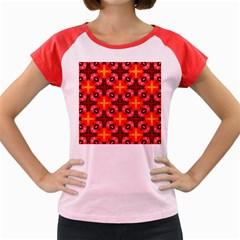 Cute Pretty Elegant Pattern Women s Cap Sleeve T Shirt