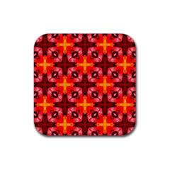 Cute Pretty Elegant Pattern Rubber Square Coaster (4 Pack)