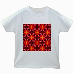 Cute Pretty Elegant Pattern Kids White T Shirts