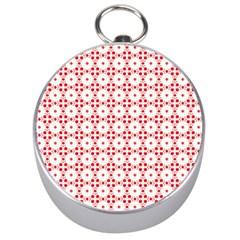 Cute Pretty Elegant Pattern Silver Compasses