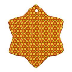 Cute Pretty Elegant Pattern Snowflake Ornament (2 Side)
