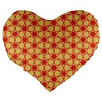 Cute Pretty Elegant Pattern Large 19  Premium Flano Heart Shape Cushions Back